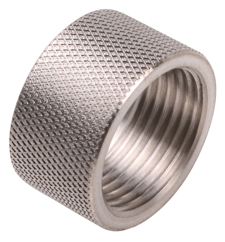 "Stainless Steel 1/2""-28 by 0.330"" long thread protector."