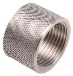 "Stainles Steel 1/2""-28 by 0.400"" long thread protector."