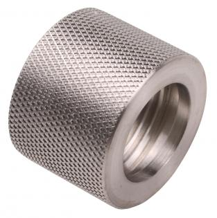 Stainless Steel 13.5mmx1LH Metric thread protector.